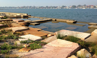 Carss Park Rockdale Botany Bay seawall pools and levels