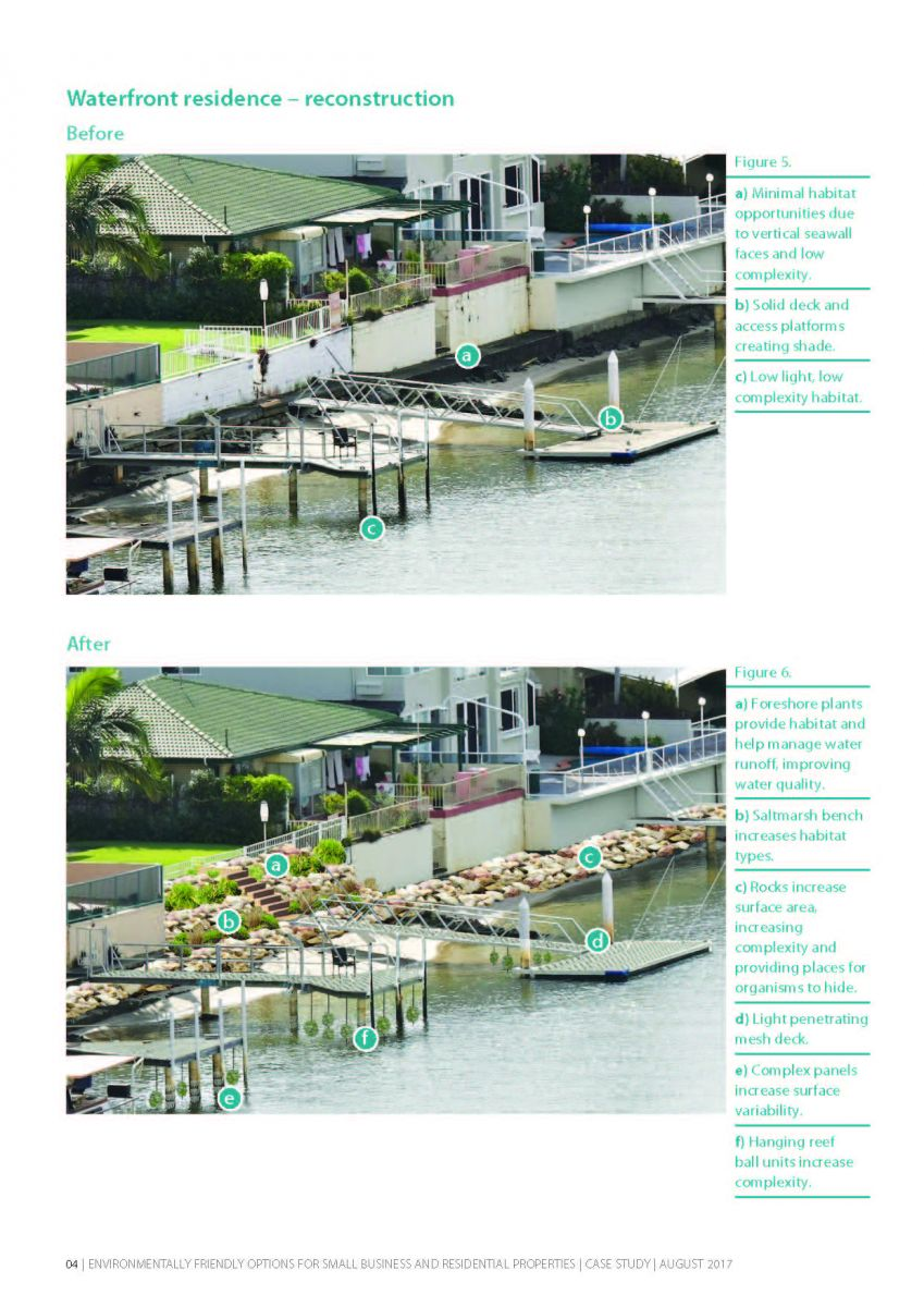 example page - waterfront residence seawall retrofit