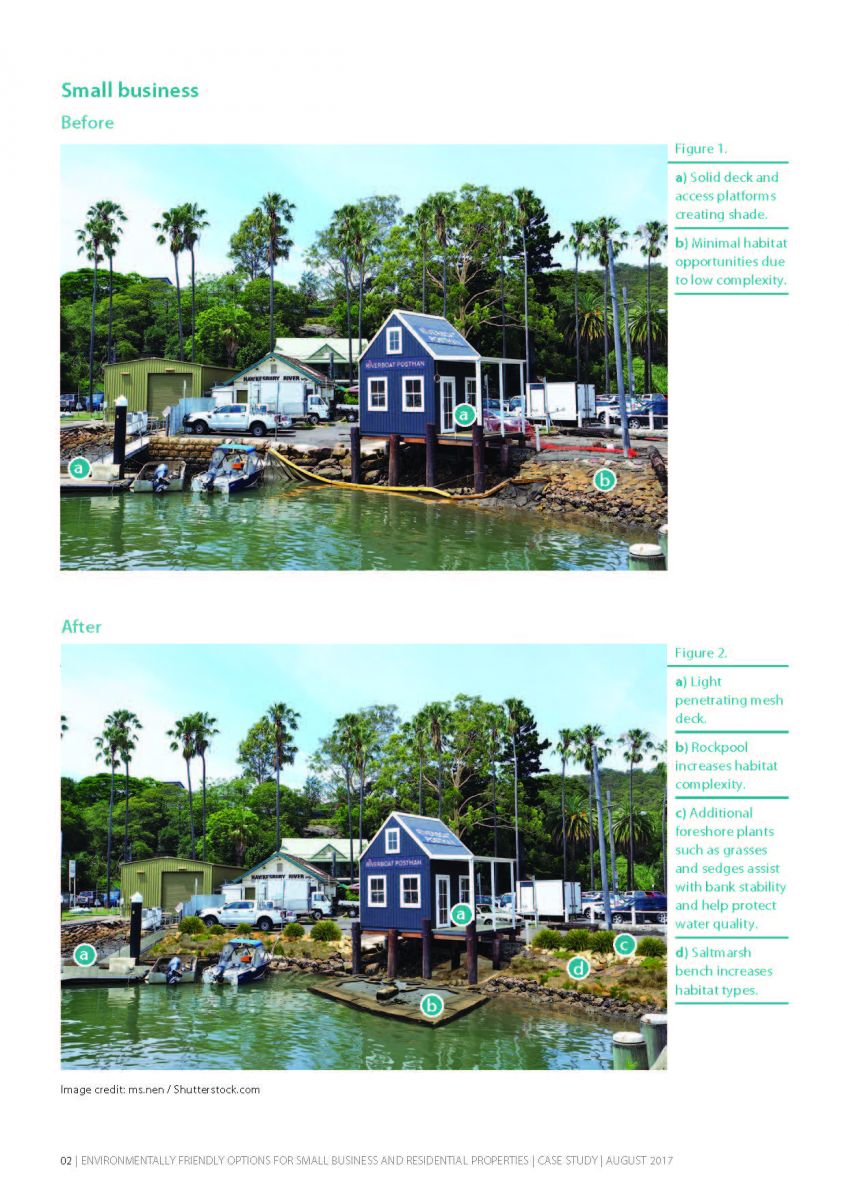 Example page - small business seawall retrofit